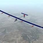 Новый самолет, работающий на солнечных батареях