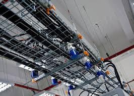 Металлические проволочные лотки для монтажа электротехники
